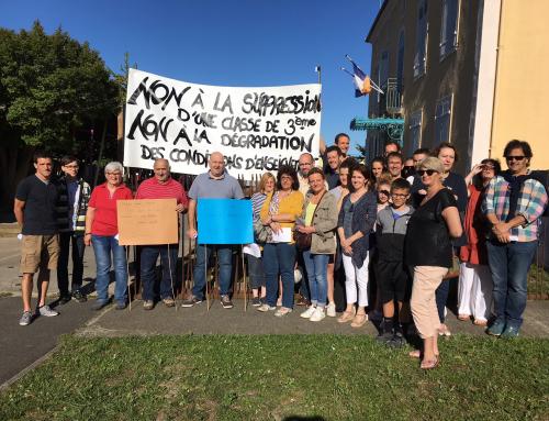 Le collège de Montfort-en-Chalosse refuse la fermeture d'une classe !