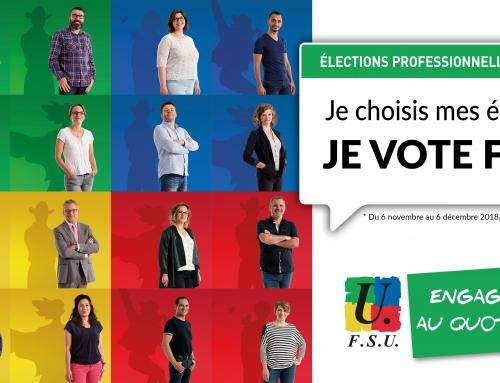 D'ici au 6 décembre, je vote FSU !