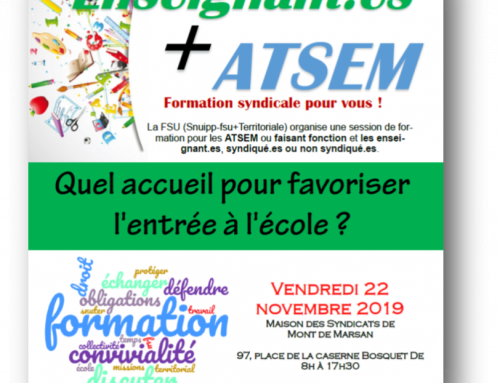 Formation ATSEM + Enseignants 22 novembre 2019